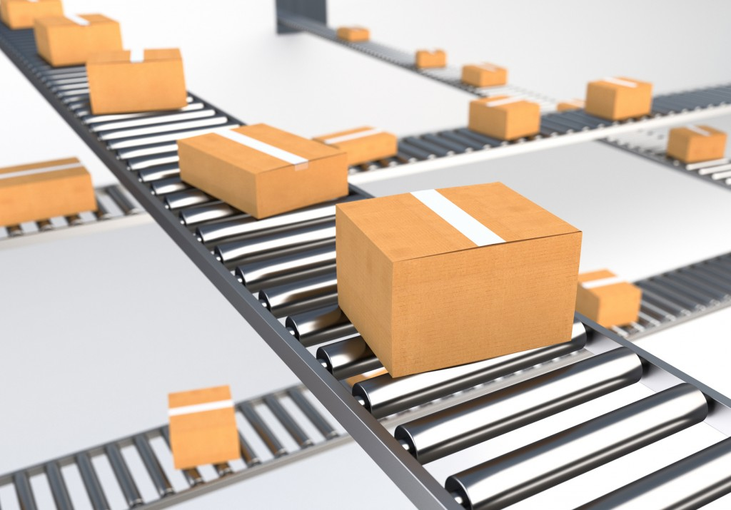 Boxes on Conveyor Belt